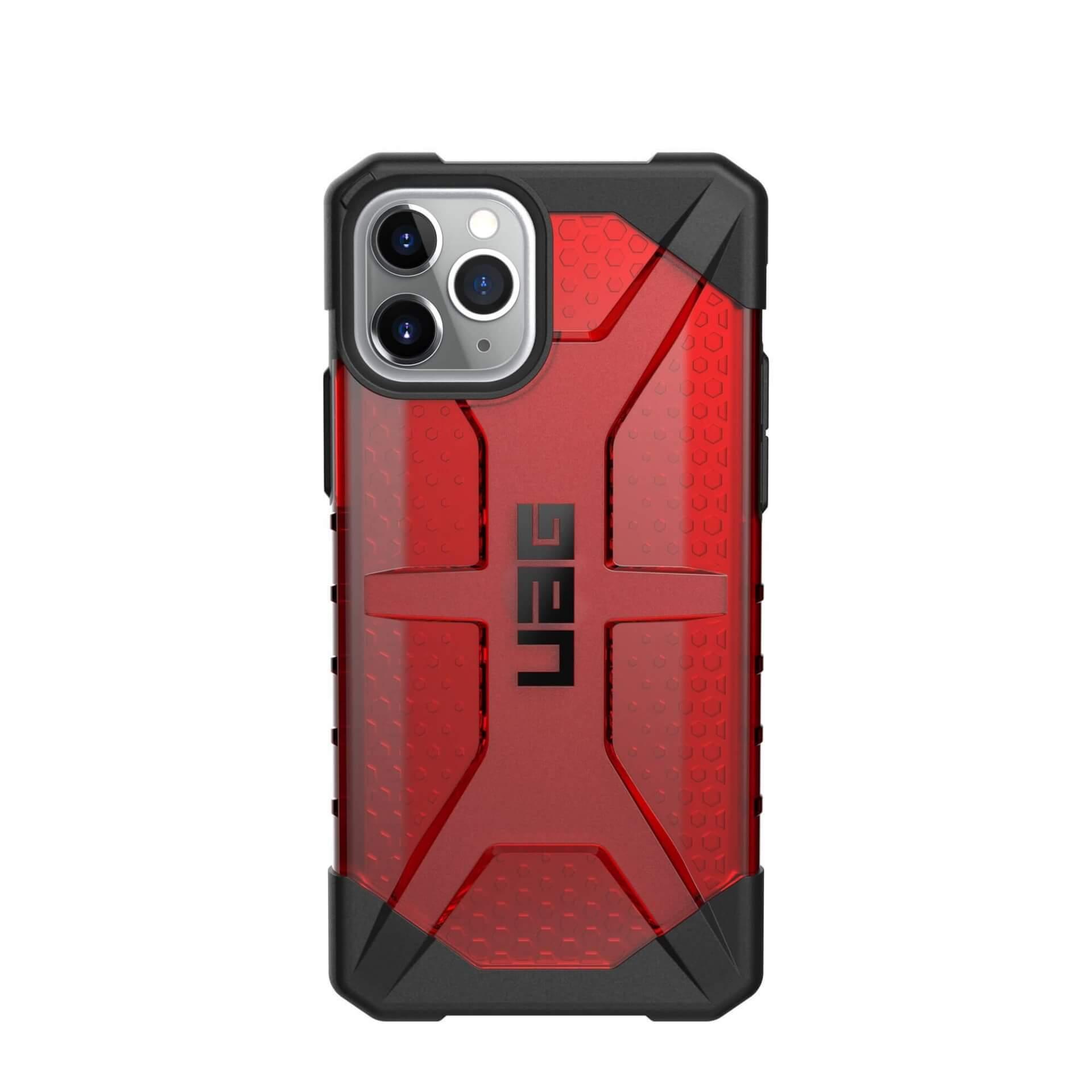 Urban Armor Gear Plasma — удароустойчив хибриден кейс за iPhone 11 Pro (червен) - 2