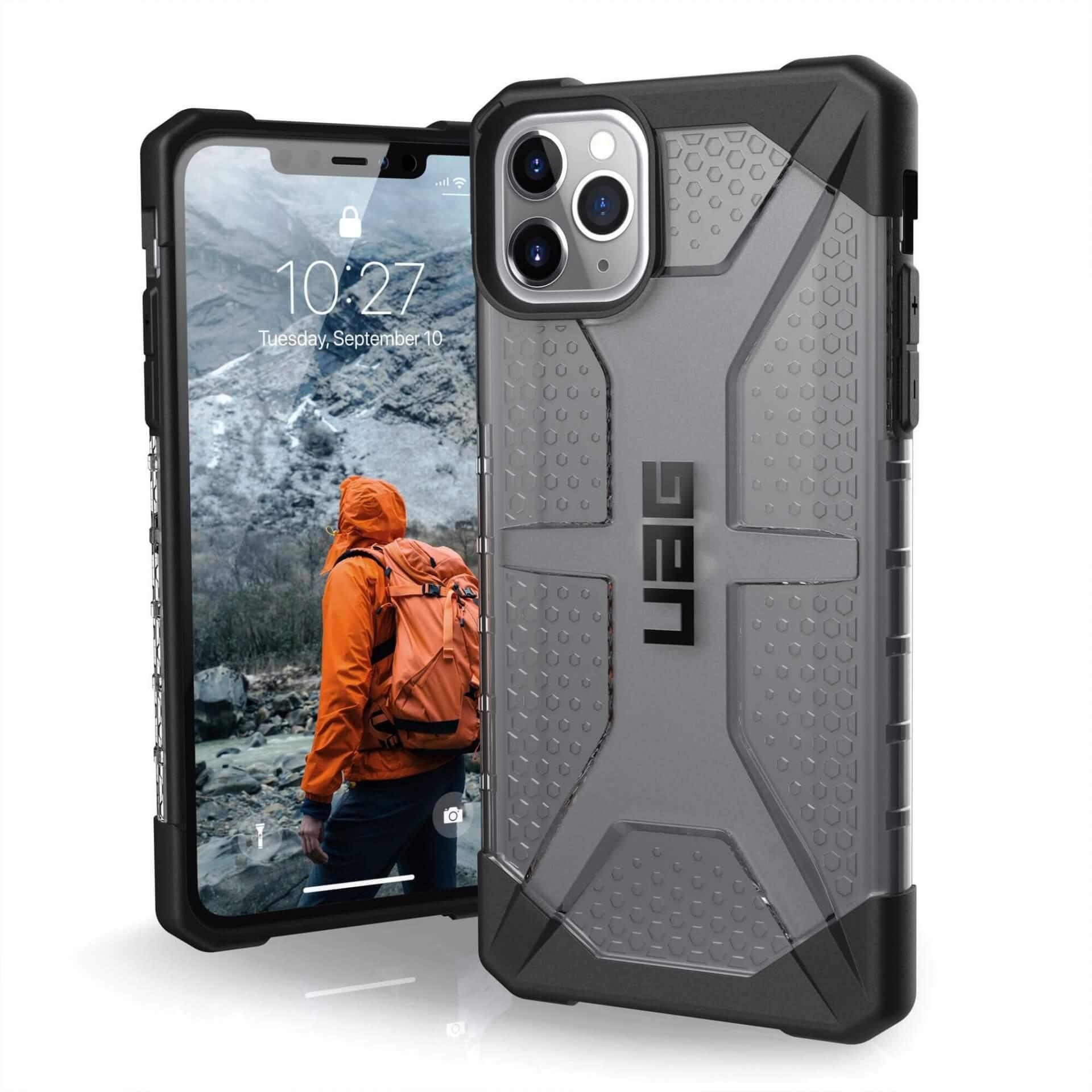 Urban Armor Gear Plasma — удароустойчив хибриден кейс за iPhone 11 Pro Max (черен) - 1