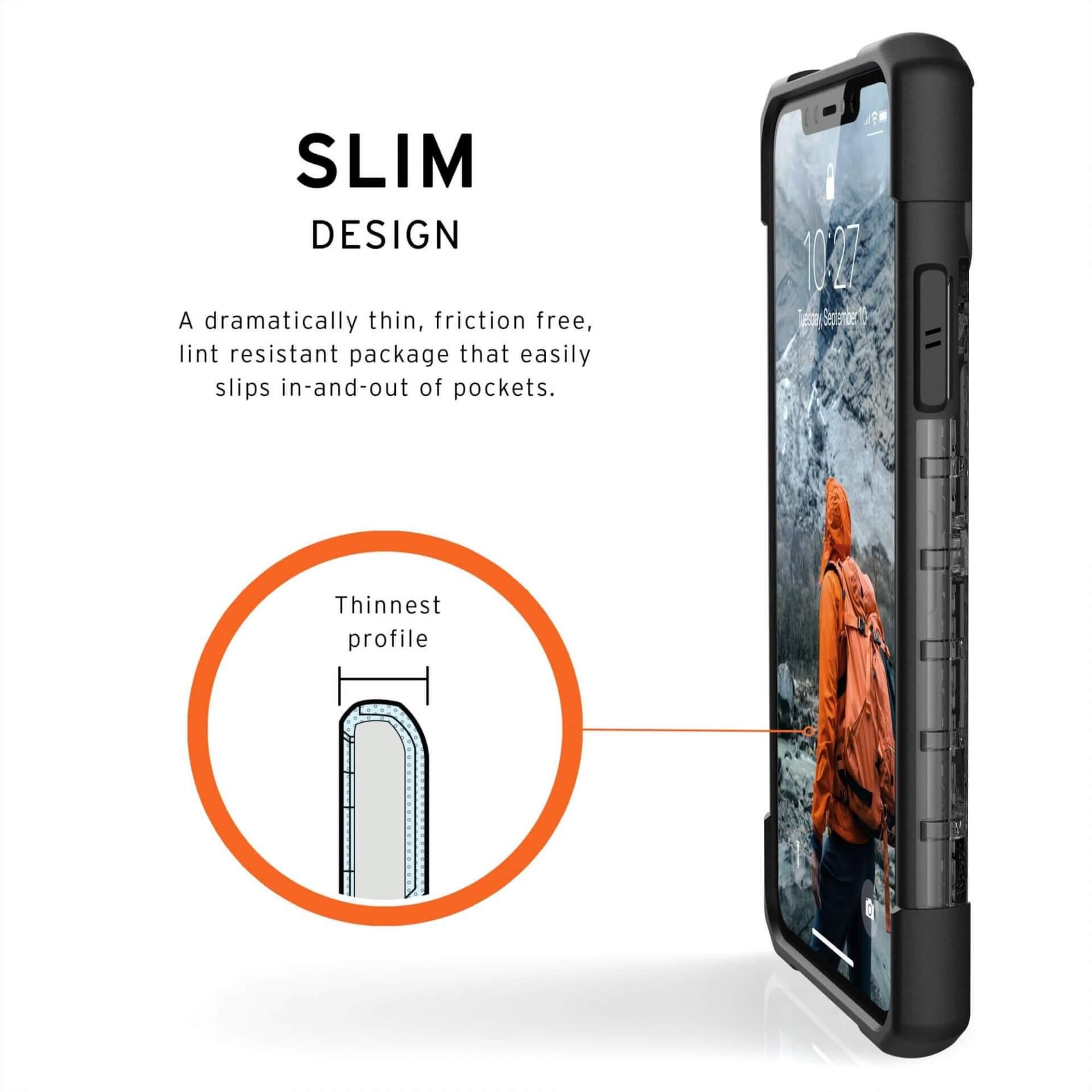 Urban Armor Gear Plasma — удароустойчив хибриден кейс за iPhone 11 Pro Max (черен) - 5
