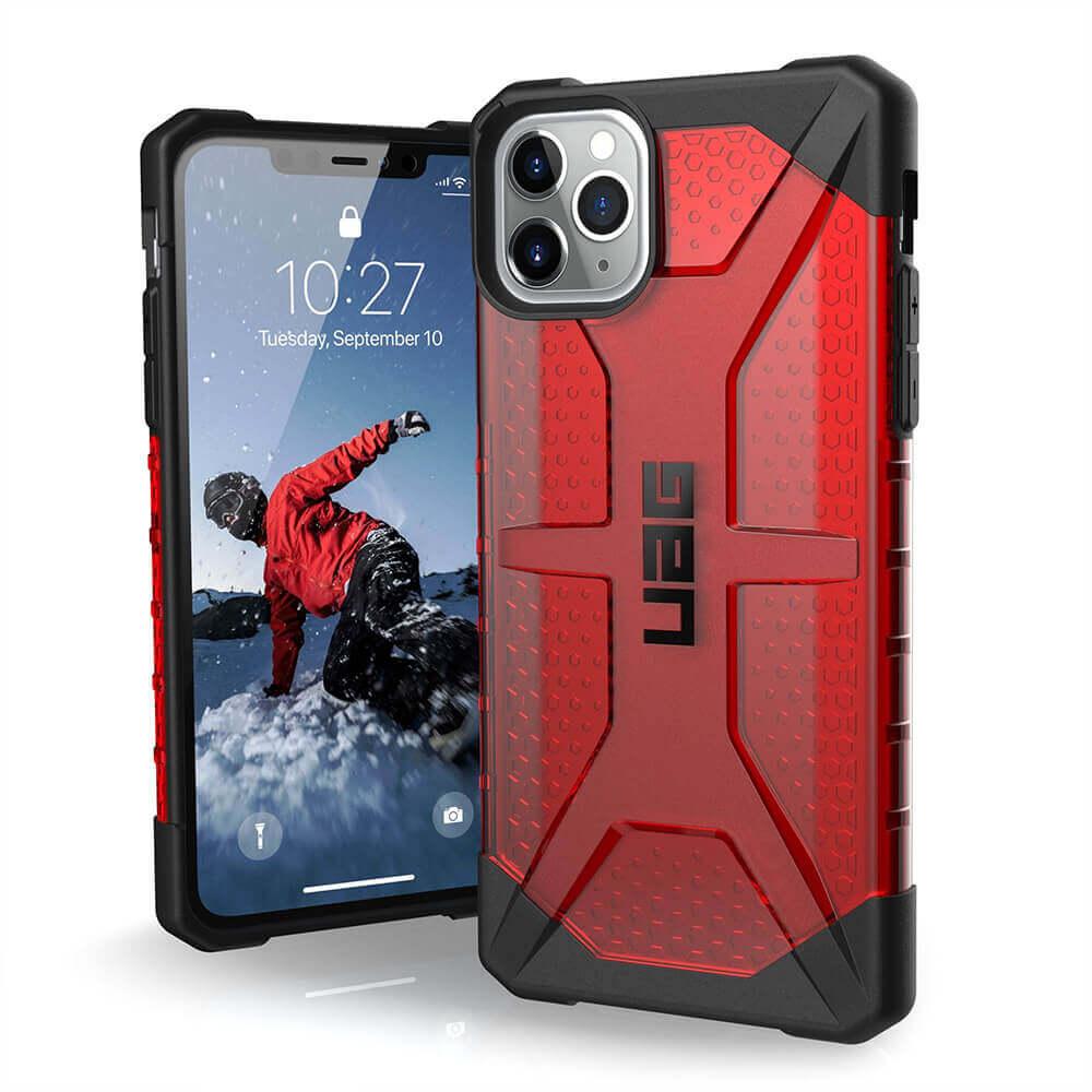 Urban Armor Gear Plasma — удароустойчив хибриден кейс за iPhone 11 Pro Max (червен) - 1