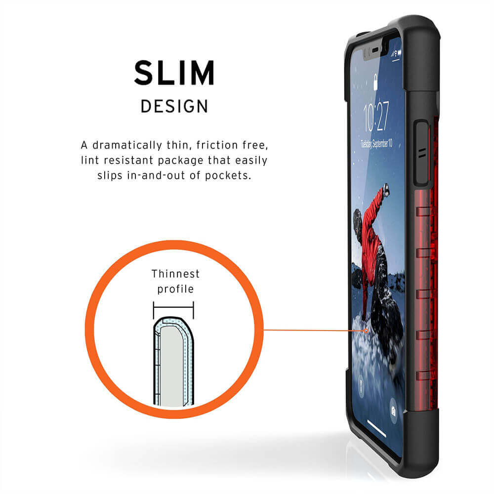 Urban Armor Gear Plasma — удароустойчив хибриден кейс за iPhone 11 Pro Max (червен) - 4
