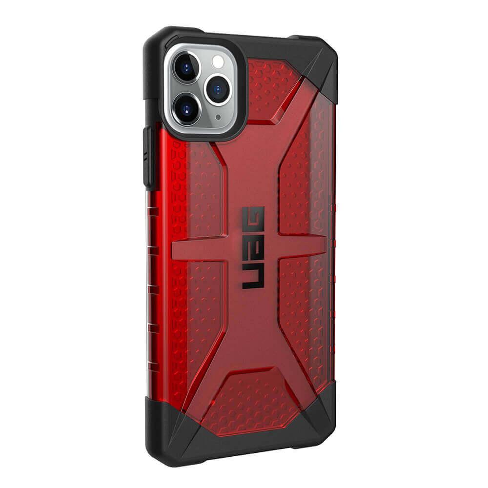 Urban Armor Gear Plasma — удароустойчив хибриден кейс за iPhone 11 Pro Max (червен) - 5