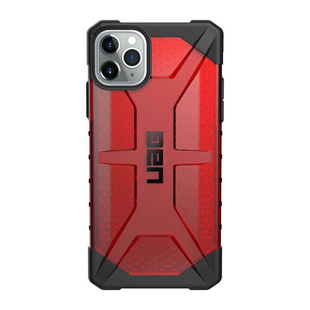 Urban Armor Gear Plasma — удароустойчив хибриден кейс за iPhone 11 Pro Max (червен) - 2