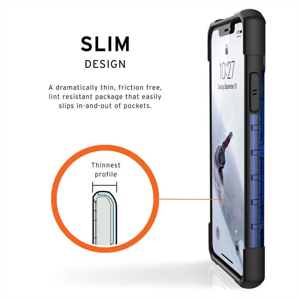 Urban Armor Gear Plasma — удароустойчив хибриден кейс за iPhone 11 Pro Max (син) - 3
