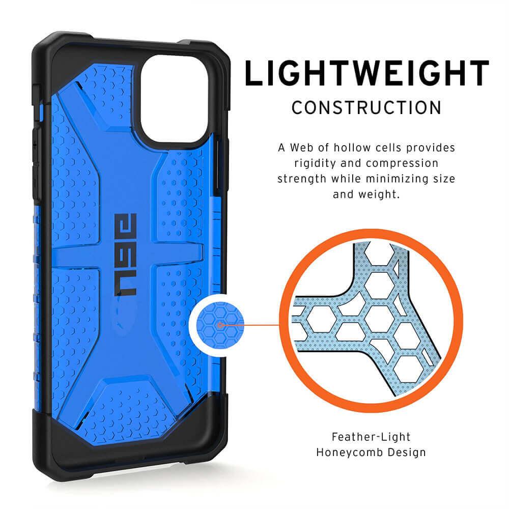 Urban Armor Gear Plasma — удароустойчив хибриден кейс за iPhone 11 Pro Max (син) - 5
