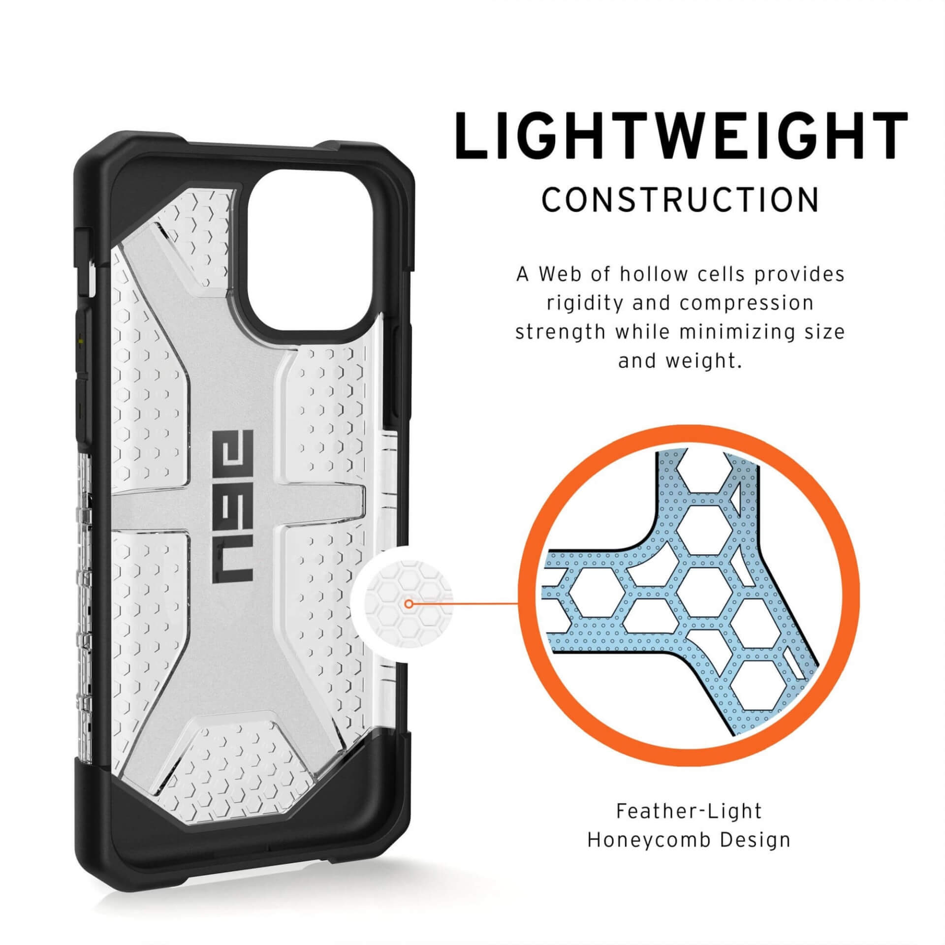 Urban Armor Gear Plasma — удароустойчив хибриден кейс за iPhone 11 Pro (прозрачен) - 5