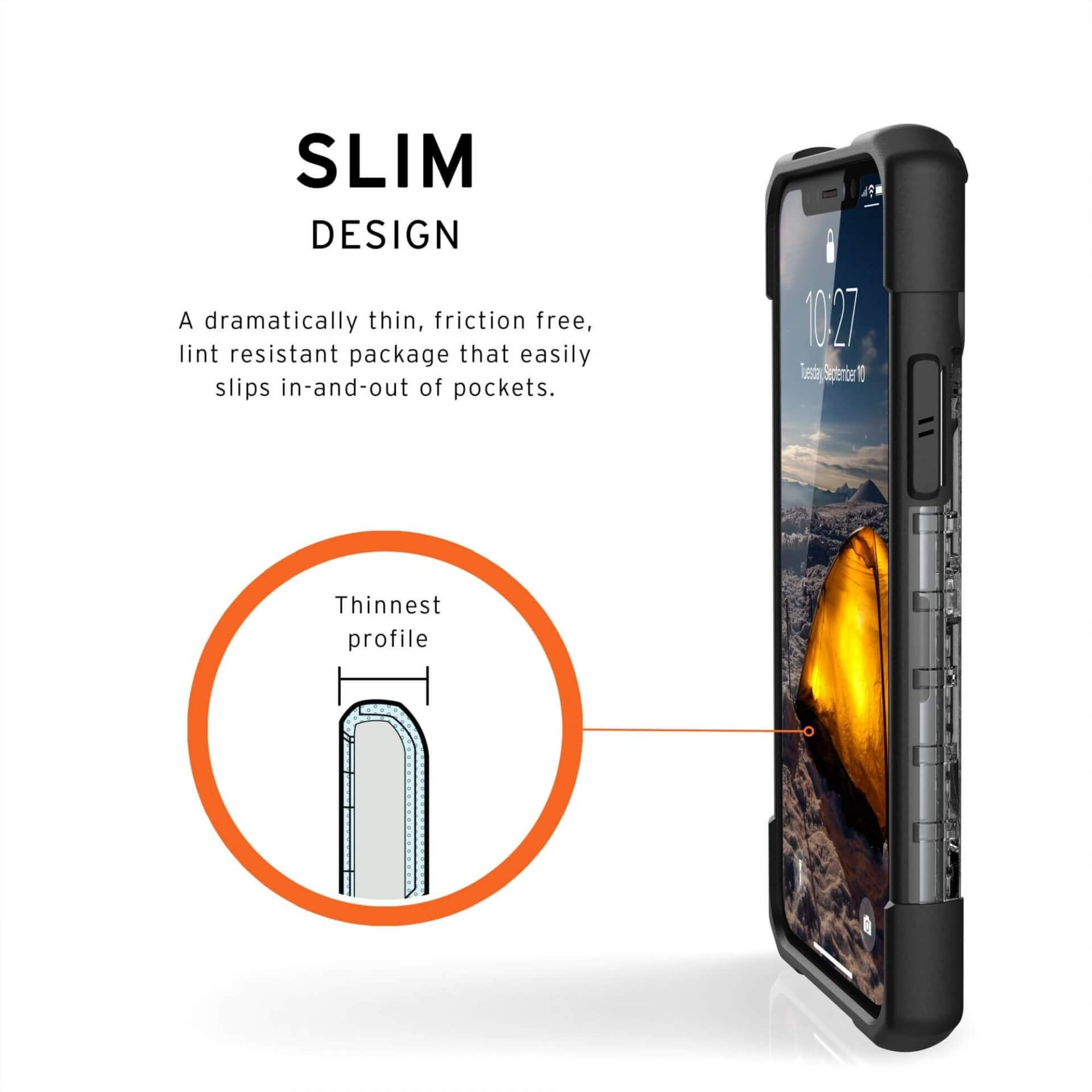 Urban Armor Gear Plasma — удароустойчив хибриден кейс за iPhone 11 Pro (прозрачен) - 4