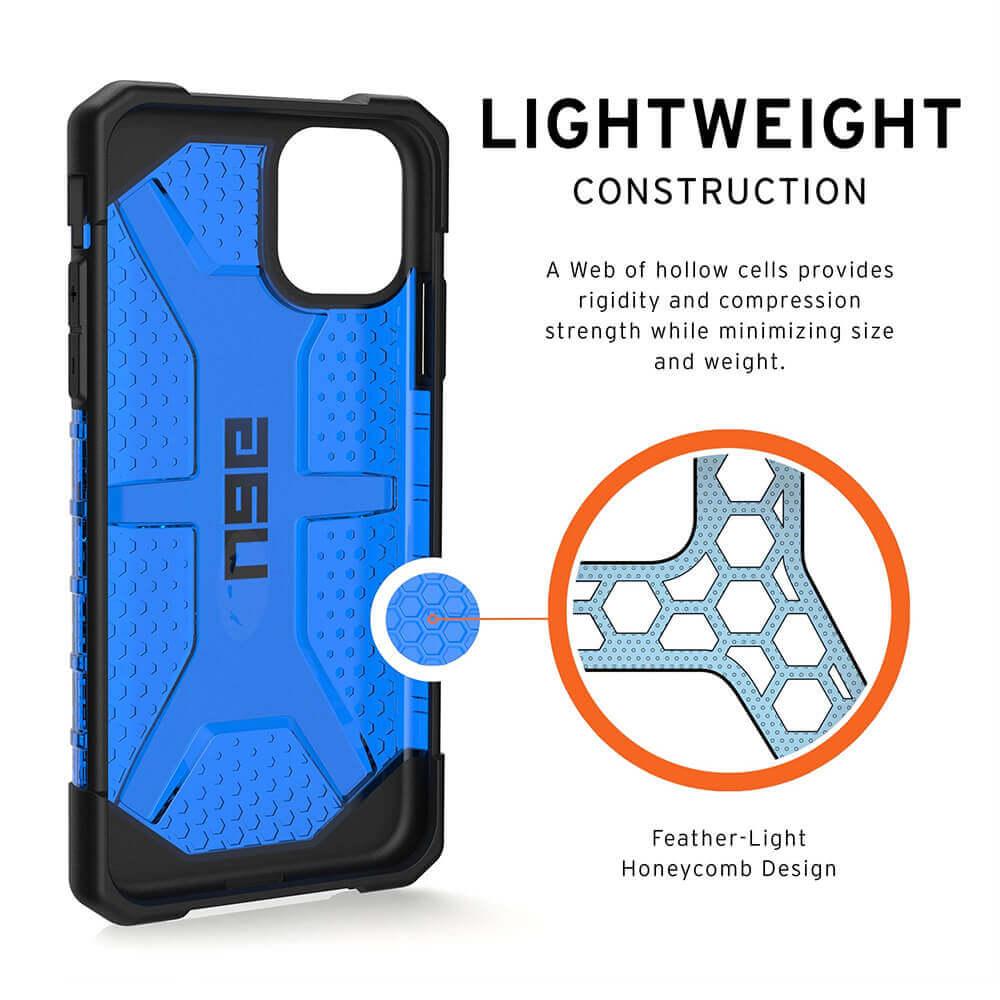 Urban Armor Gear Plasma — удароустойчив хибриден кейс за iPhone 11 (син) - 3