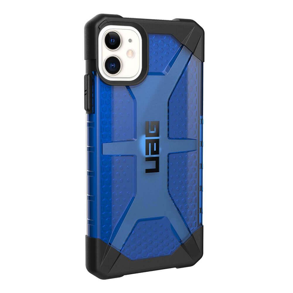 Urban Armor Gear Plasma — удароустойчив хибриден кейс за iPhone 11 (син) - 4