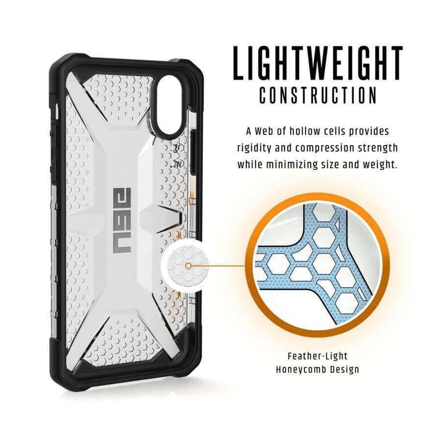Urban Armor Gear Plasma — удароустойчив хибриден кейс за iPhone XR (прозрачен) (bulk) - 4
