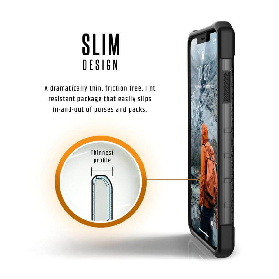 Urban Armor Gear Plasma — удароустойчив хибриден кейс за iPhone XS Max (черен) (bulk) - 3