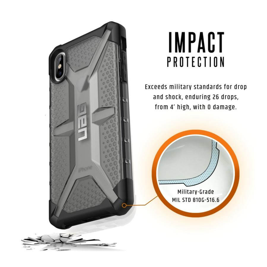 Urban Armor Gear Plasma — удароустойчив хибриден кейс за iPhone XS Max (черен) (bulk) - 5