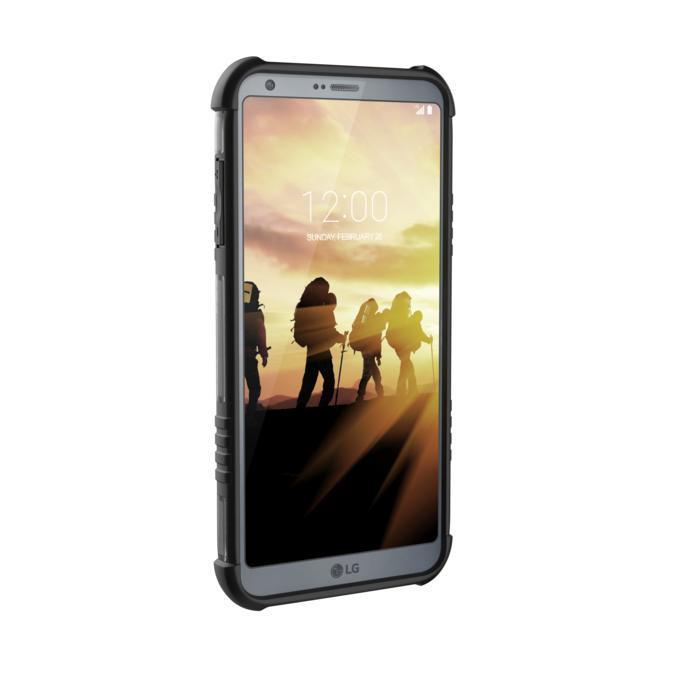 Urban Armor Gear Plasma — удароустойчив хибриден кейс за LG G6 (черен-прозрачен) - 4