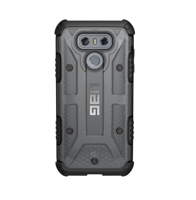 Urban Armor Gear Plasma — удароустойчив хибриден кейс за LG G6 (черен-прозрачен) - 1