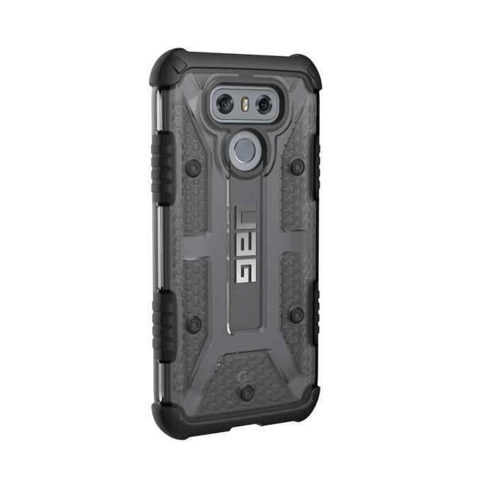 Urban Armor Gear Plasma — удароустойчив хибриден кейс за LG G6 (черен-прозрачен) - 3