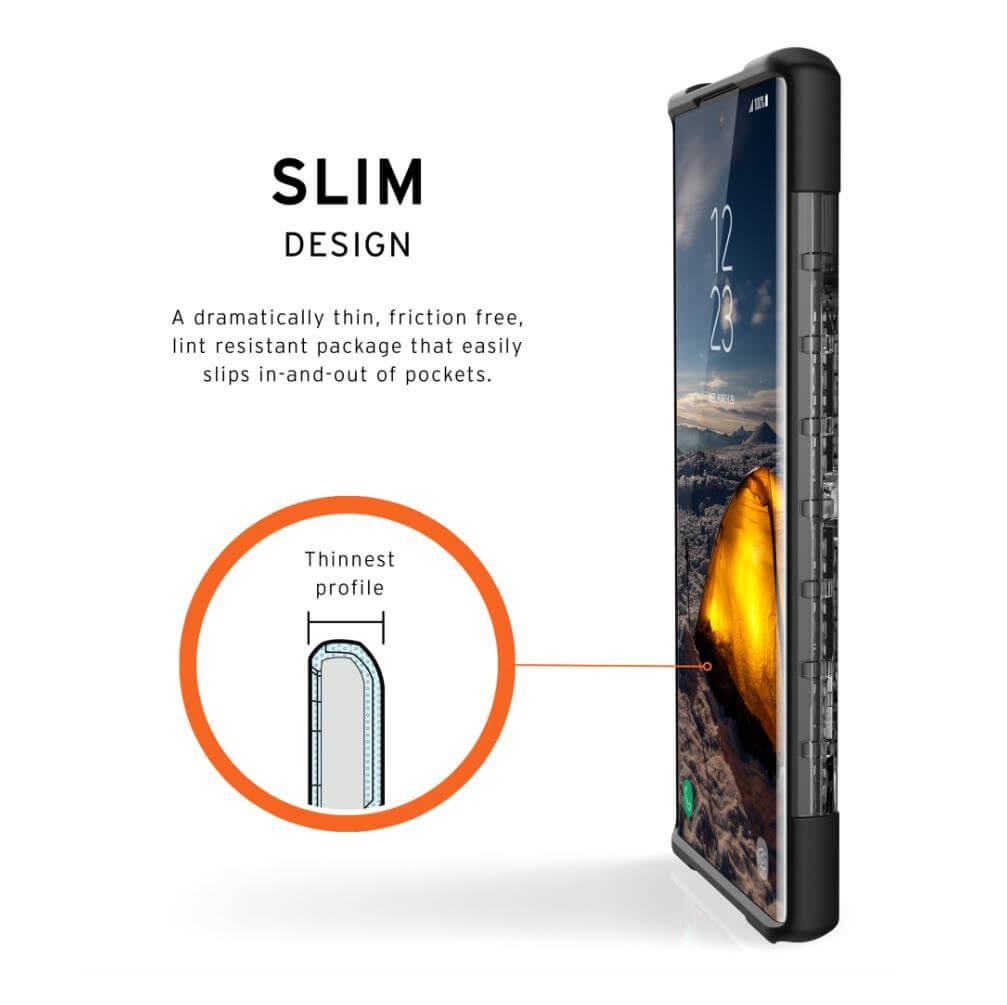 Urban Armor Gear Plasma — удароустойчив хибриден кейс за Samsung Galaxy Note 10 Plus (прозрачен) - 5