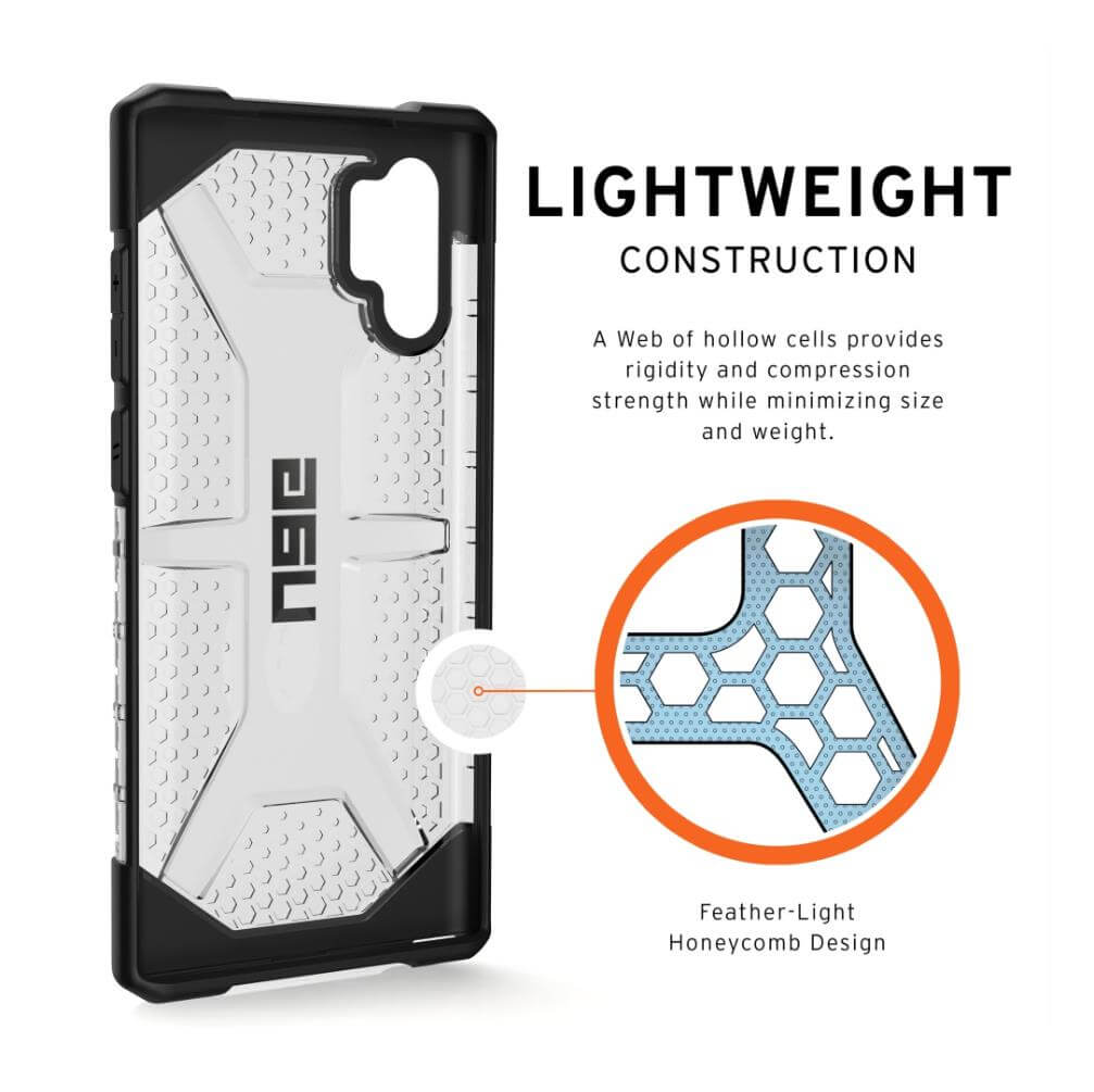 Urban Armor Gear Plasma — удароустойчив хибриден кейс за Samsung Galaxy Note 10 Plus (прозрачен) - 2