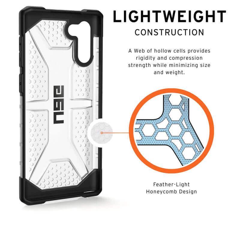 Urban Armor Gear Plasma — удароустойчив хибриден кейс за Samsung Galaxy Note 10 (прозрачен) - 5