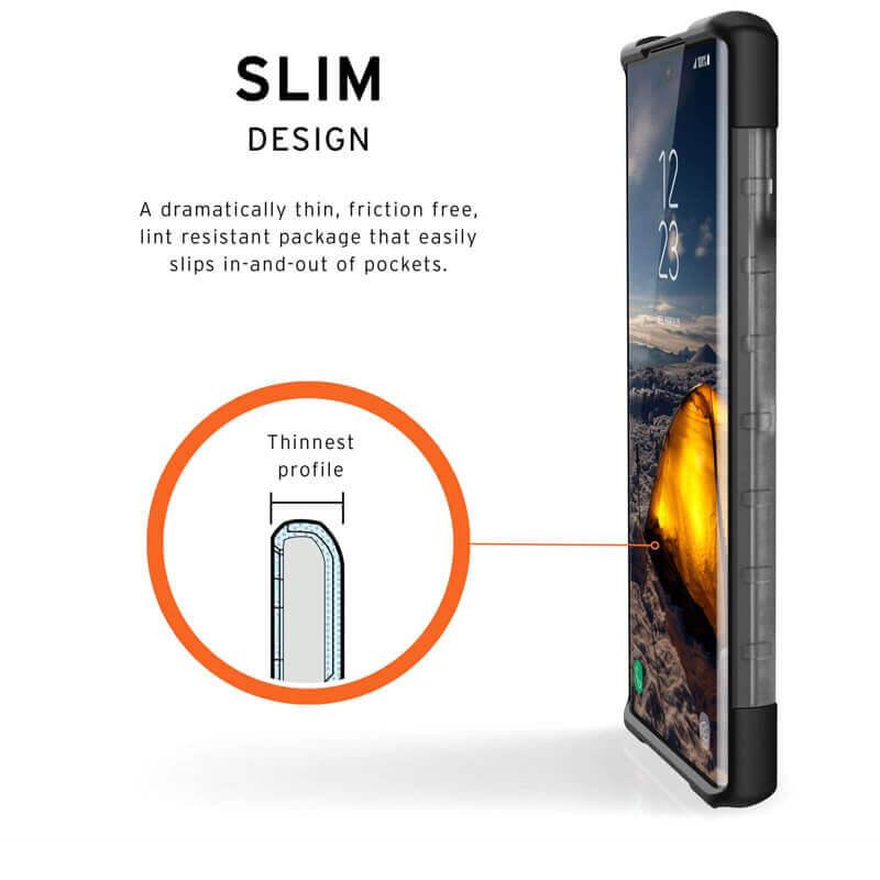 Urban Armor Gear Plasma — удароустойчив хибриден кейс за Samsung Galaxy Note 10 (прозрачен) - 2