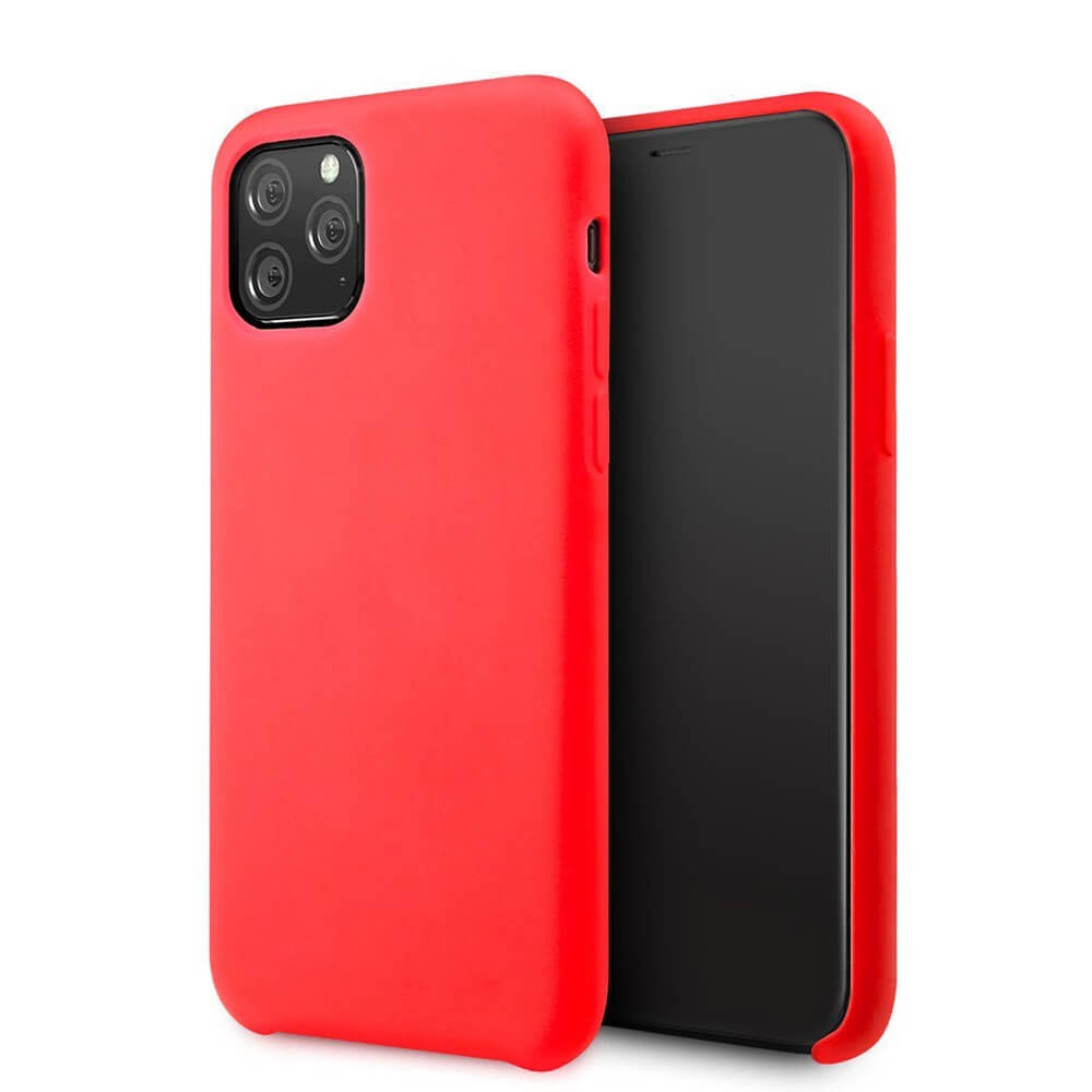 Vennus Silicone Case — силиконов (TPU) калъф за iPhone 11 Pro (червен) - 1
