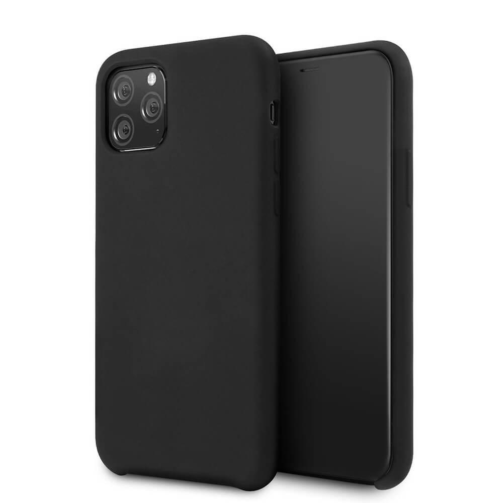 Vennus Silicone Case — силиконов (TPU) калъф за iPhone 11 Pro Max (черен) - 1
