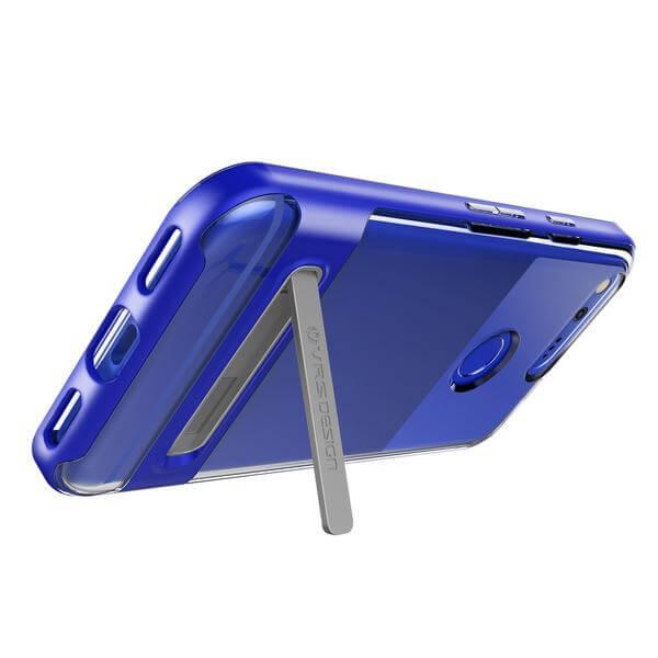 Verus Crystal Bumper Case — хибриден удароустойчив кейс за Google Pixel (син-прозрачен) - 4