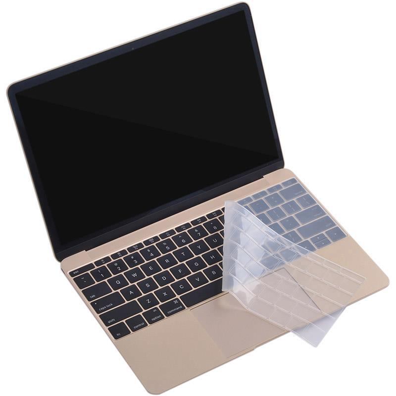 ZKY Keyboard Cover — силиконов протектор за клавиатурата на MacBook Pro (без touch Bar) (модел след 2016) (прозрачен-мат) (bulk) - 3